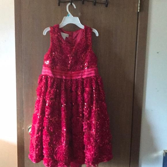Red girls plus size fancy dress